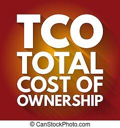fond, cout, acronyme, total, tco, -, concept, business, propriété