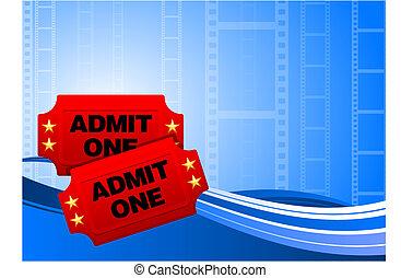 fond, film, billets, pellicule