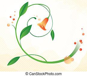 fond, fleur, résumé