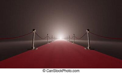 fond, gala, rendering., nuit, 3d, cordes, moquette, velours, arrière-plan., rouges