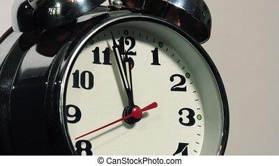 fond, horloge, table, vieux, blanc, vendange, reveil