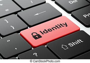 fond, intimité, cadenas, informatique, identité, fermé, clavier, concept: