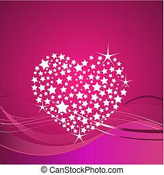 fond, jour valentine