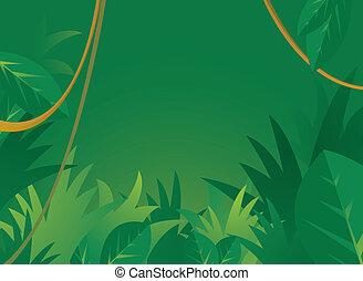 fond, jungle, copyspace