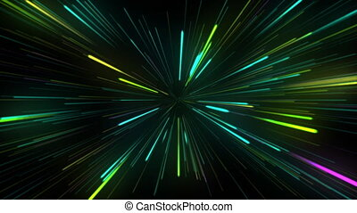 fond, lignes, lumière néon, animation