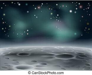 fond, lune