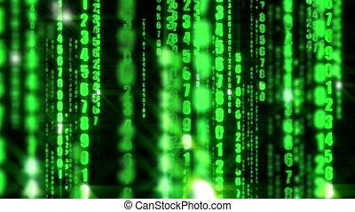 fond, matrice, données, informatique, code binaire, numérique
