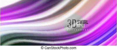 fond, moderne, liquide, techno, résumé, lignes, lustré, coloré, vagues