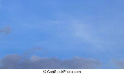 fond, montage, rêves, mouvement, ciel, nuages, grand, timelapse., concept, espoirs, aspirations.