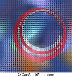 fond, mosaïque, carrée, vecteur, pixel, résumé