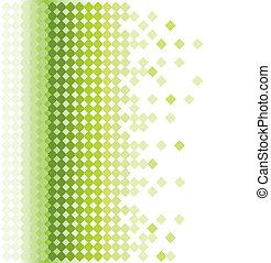 fond, mosaïque, résumé vert