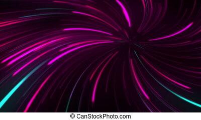 fond, néon, fête, lumières, animation