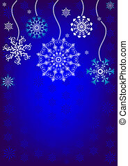 fond, noël, (vector), flocons neige