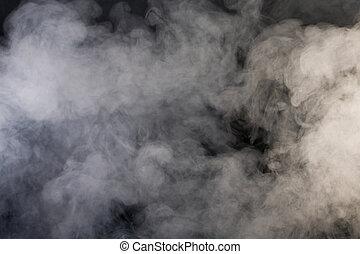 fond, noir, gris, fumée