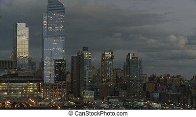fond, nuageux, nouveau, partie, ciel, hélicoptère, york, 2