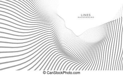 fond, ondulé, résumé, lignes, écoulement, perspective