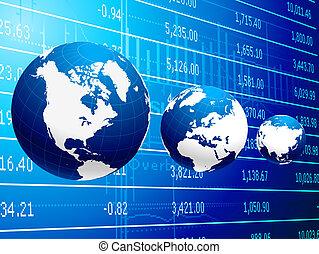 fond, résumé, business, économie globale