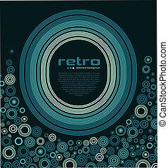 fond, résumé, -, disco, retro, vector.