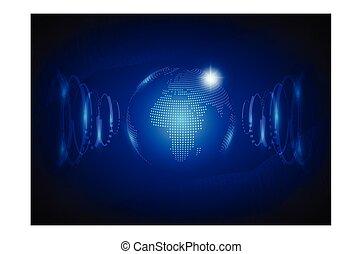 fond, résumé, technologie de pointe, vector., mondiale