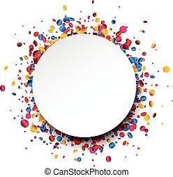 fond, rond, confetti., coloré