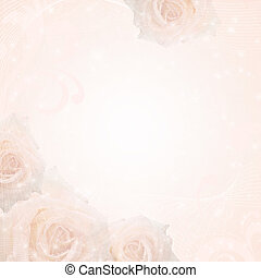fond, roses, mariage, cadre, beau
