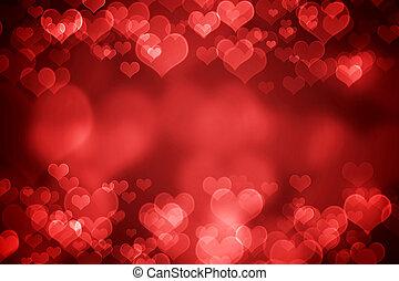fond, rouges, jour, incandescent, valentine