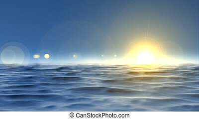 fond, seamless, boucle, océan