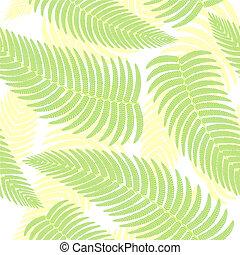 fond, seamless, ferns.