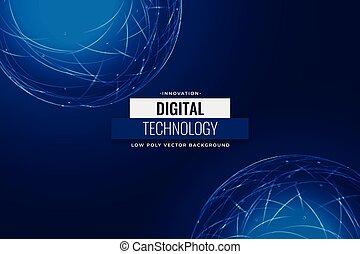 fond, technologie, réseau, numérique, bleu, conception