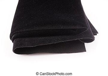 fond, tissu, blanc, noir