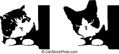 fond, vecteur, chat, isolé