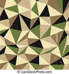 fond, vecteur, retro, triangles