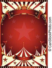 fond, vendange, rouges, cirque