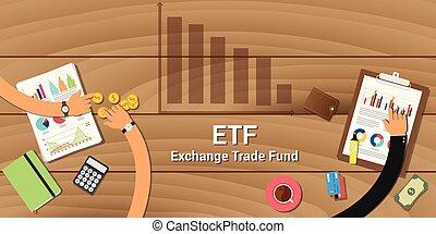 fonds, échange, etf, commercer