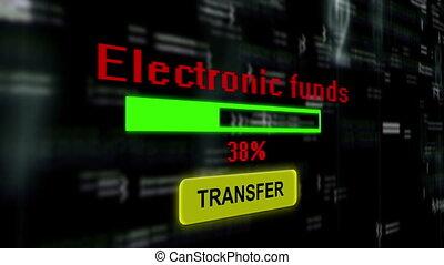 fonds, électronique, transfert