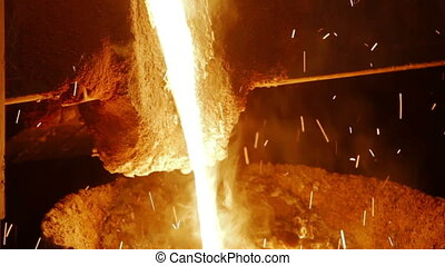 fondu, plante, metallurgical, métal, fondu