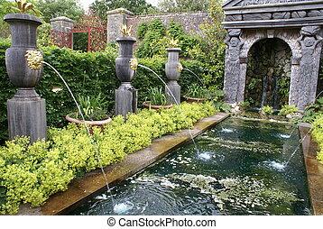 fontaine, bois construction, arundel, royaume-uni, château