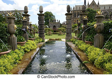 fontaine, château, arundel, angleterre