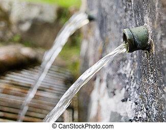 fontaine eau, détail