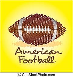football américain, dessin