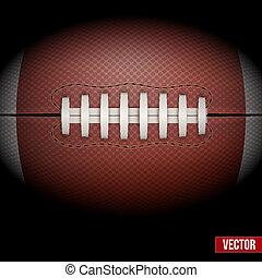 football américain, fond, vector., ball.