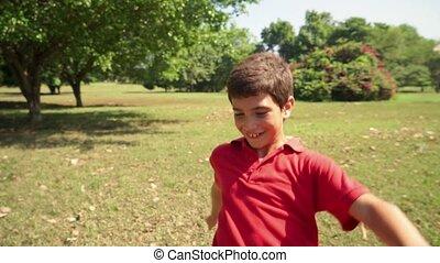 football, enfant, jouer, garçon, gosse