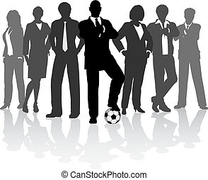 football, equipe affaires