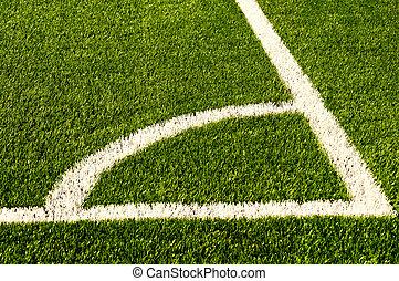 football, grass., texture, champ vert