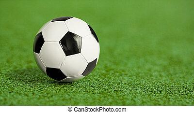 football, herbe, vert, cour de récréation, balle