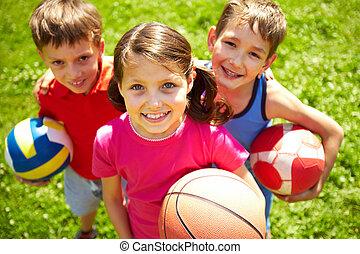football, jeune, joueurs