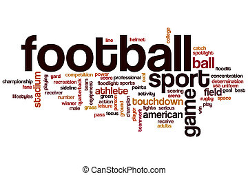 football, mot, nuage