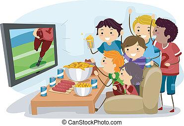 football, regarder