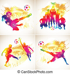football, silhouette