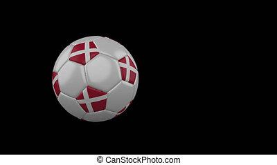football, transparent, danemark, fond, drapeau, balle, voler, canal, alpha